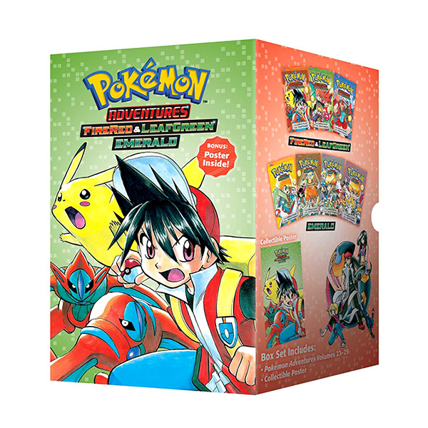 Pokemon Adventures Fire Red & Leaf Green / Emerald Box Set : Includes Volumes 23-29 (Paperback)