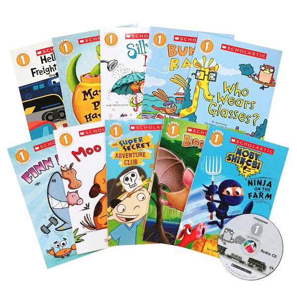 Scholastic Readers Level 1 Set ( Paperback, 10종 + Audio CD 1개 )