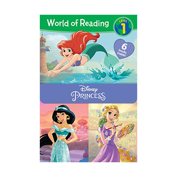 World of Reading Level 1 : Disney Princess 6 Books Boxed Set (Paperback, 6종)