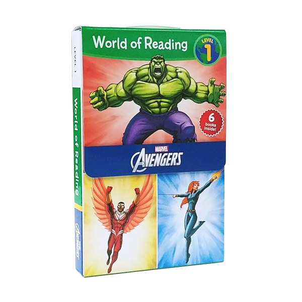 ★키즈코믹콘★World of Reading Level 1 : Marvel Avengers 6종 리더스 Box Set (Paperback)(CD없음)