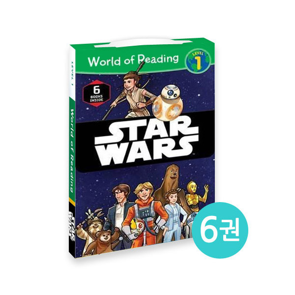 World of Reading Level 1 : Star Wars 리더스 6종 Box Set (Paperback)(CD없음)