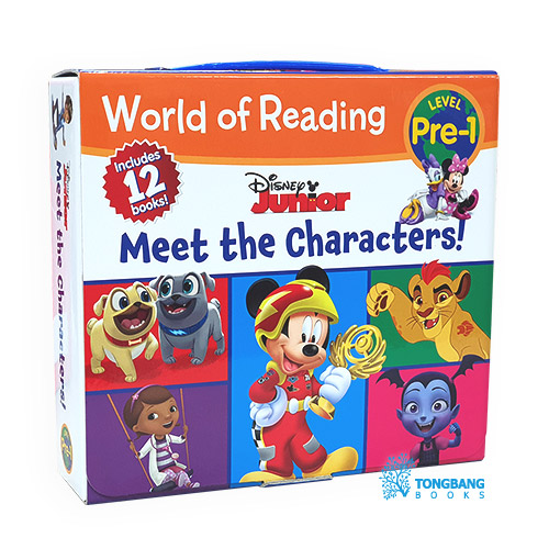 World of Reading Pre-Level 1 : Disney Junior : Meet the Characters Boxed Set (Paperback, 12권) (CD미포함)