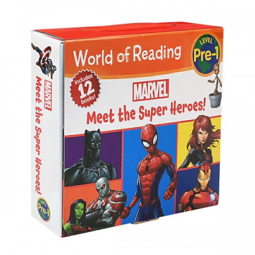 World of Reading Pre-Level 1 : Marvel : Meet the Super Heroes! 12 Books Boxed Set (Paperback) (CD미포함)
