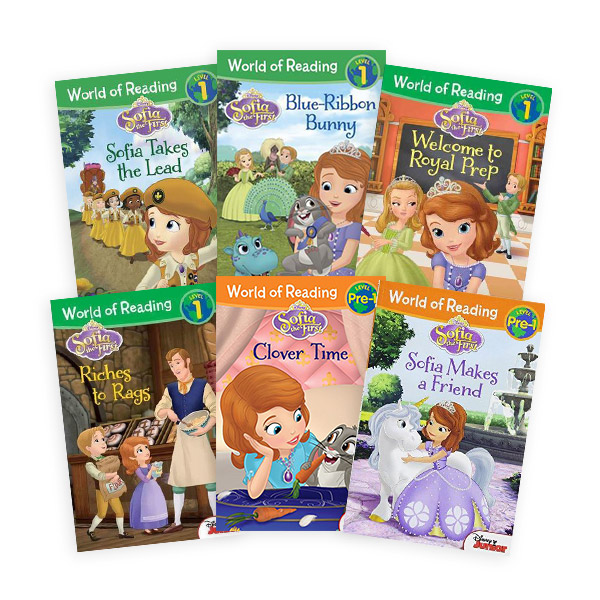 World of Reading Level Pre, 1단계 Sofia the First 리더스북 6종 세트 (Paperback)