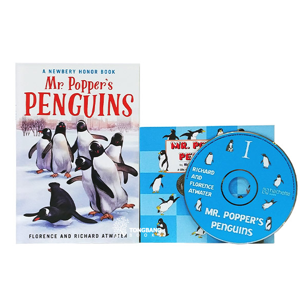 [1939 뉴베리] Mr. Popper's Penguins  Book & CD 세트 (Paperback+CD)