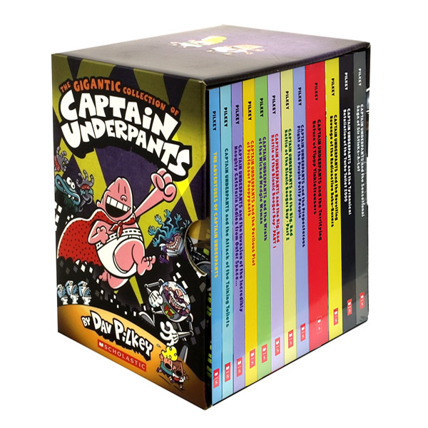 [베스트★2020] [스콜라스틱] [빤스맨] The Gigantic Collection of Captain Underpants #01-12 Boxed Set (Paperback)