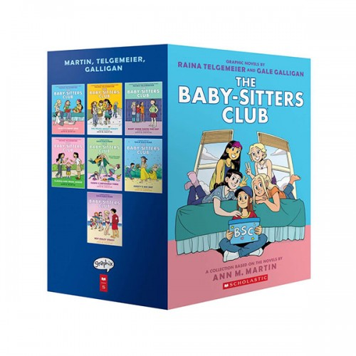The Baby-Sitters Club Graphix #1-7 Books Boxed Set (Paperback, Full-Color Edition) (CD미포함)