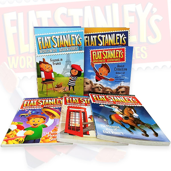 ☆윈터세일☆Flat Stanley's Worldwide Adventures #01-15 챕터북 & #01-12 오디오CD 세트 (Paperback 15종+Audio CD 8장)