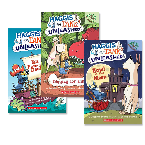 Haggis and Tank Unleashed 시리즈 챕터북 3종 세트 (Paperback)