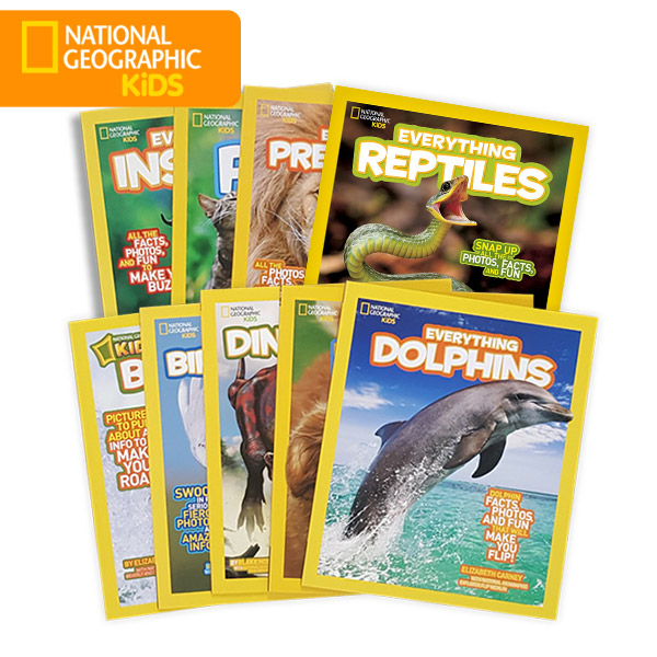 National Geographic Kids Everything 동식물 9종 세트 (Paperback)