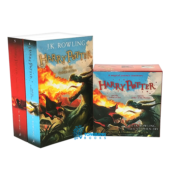 Harry Potter #04-5 Book & CD 세트 (Paperback+CD, 영국판)
