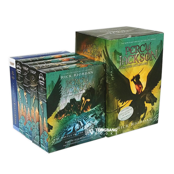 Percy Jackson and the Olympians #01-5 Book & CD 세트 (Paperback & CD)