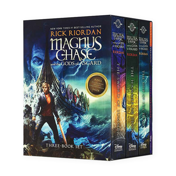RL 4.8-5.1 :Magnus Chase and the Gods of Asgard #1-3 Books Boxed Set (Paperback) (CD미포함)
