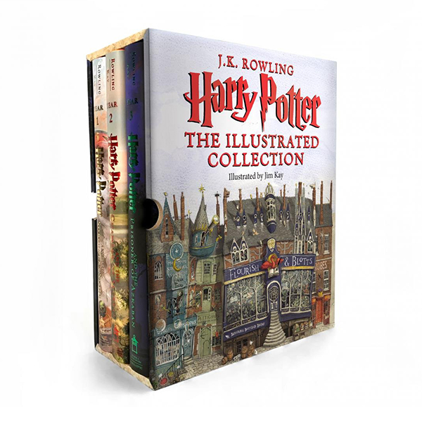 RL 5.5~6.7 : Harry Potter The Illustrated Collection - 3 Books Boxed Set (Hardcover, 미국판)