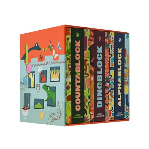 A Box of Blocks : 블록북 3종 세트 (Board book)