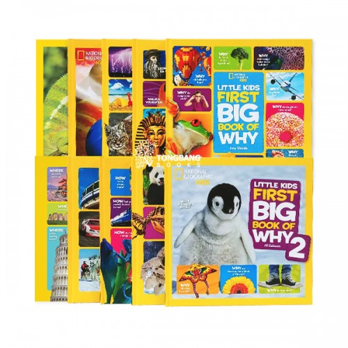 National Geographic Kids : Little Kids First Big Book 논픽션 10종 하드커버 A 세트 (CD없음)