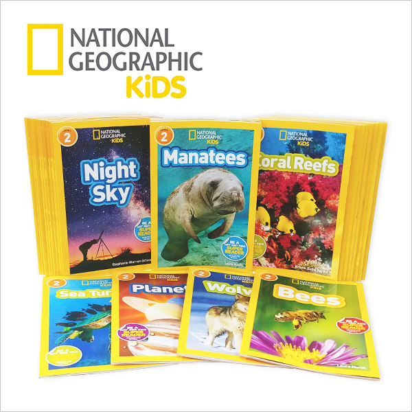 RL 2.6-4.1 : National Geographic Kids 리더스북 2단계 28종 세트 (Paperback)