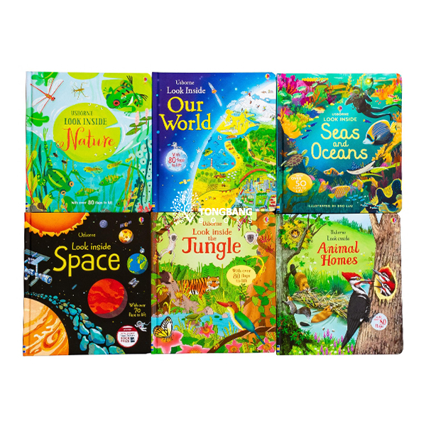 Usborne Look Inside Collection - 6 Books Set (Board Book, 영국판)