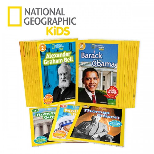 National Geographic Kids Biographic 리더스 1,2,3단계 23종 세트 (Paperback) (CD없음)