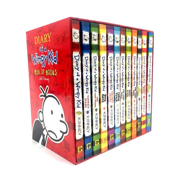 RL 5.2-5.8 : Diary of a Wimpy Kid 1-12 Books boxed set (Paperback,미국판)