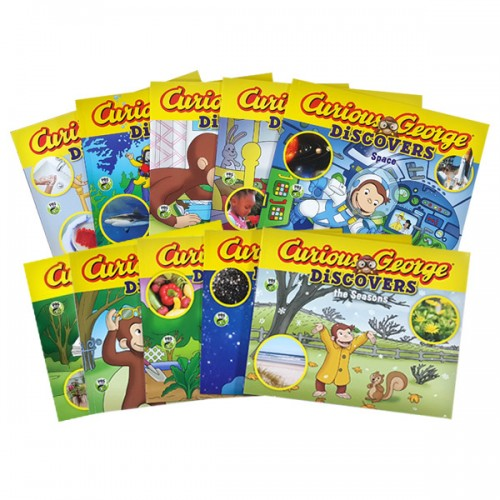 Curious George Discovers 픽쳐북 10종 세트 (Paperback)