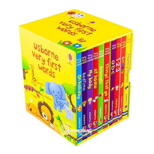 Usborne Very First Words Collection - 10 Books Box Set (Board Book, 영국판)