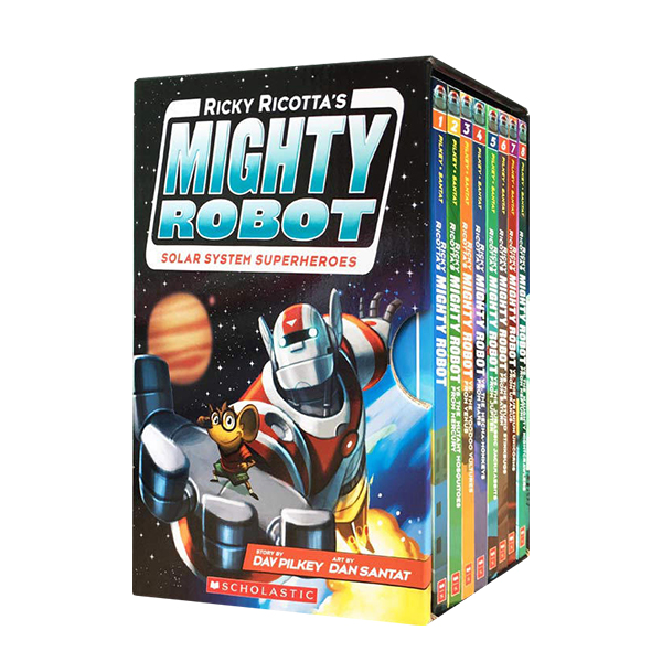 [공동구매] Mighty Robot : Solar System Superheroes 8 Book Box Set (Paperback, 8권)