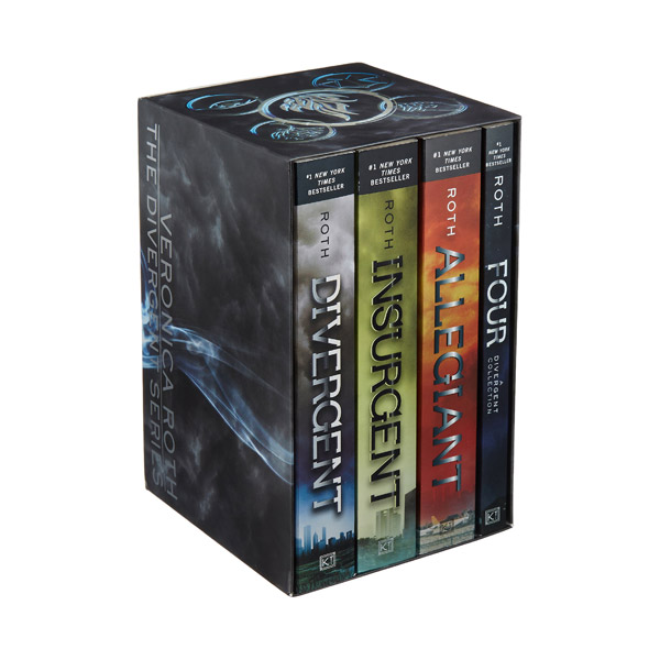 RL 4.8~5.8 : The Divergent Series #1-4 Books Boxed Set (Paperback)