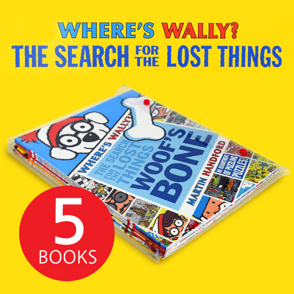 [월리를 찾아라] Where's Wally The Search For Lost Things - 5 Books Pack (Paperback+Poster)