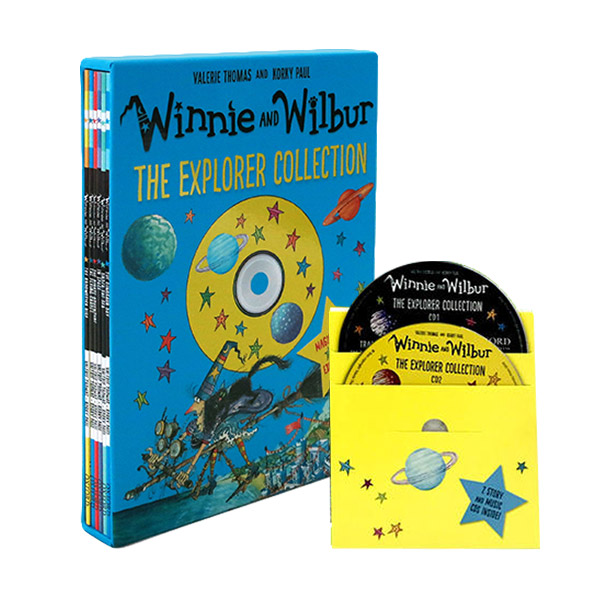 Winnie and Wilbur: The Explorer Collection (Paperback 6종 + CD 2장, 영국판)