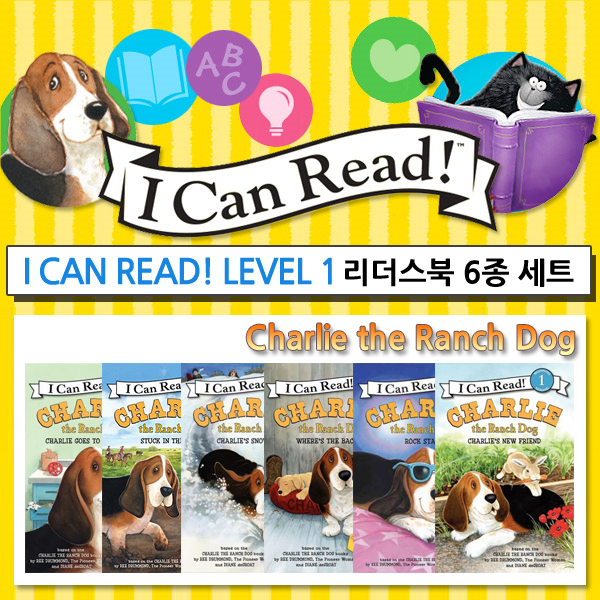 I Can Read Readers Charlie the Ranch Dog [레벨1/6종] 세트 (Paperback)