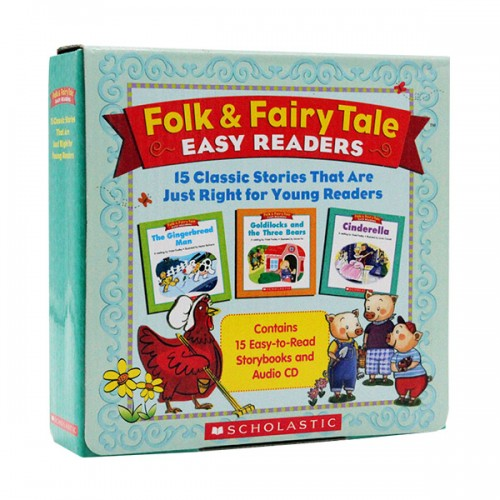 [스콜라스틱] Folk & Fairy Tale box set with CD (Paperback 15종 + Audio CD 1장)