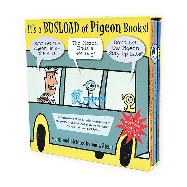 It's a Busload of Pigeon Books! 3 Books 하드커버 박스 Set (CD없음)