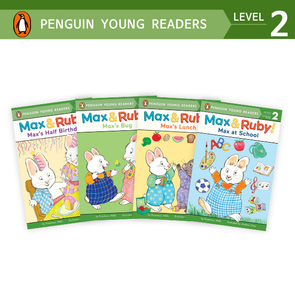 Penguin Young Readers Level 2 : Max & Ruby 리더스 4종 세트 (Paperback)(CD없음)