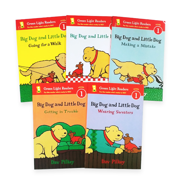 Green Light Readers 1 : Dav Pilkey 작가 Big Dog and Little Dog 시리즈 리더스 5종 세트 (Paperback)
