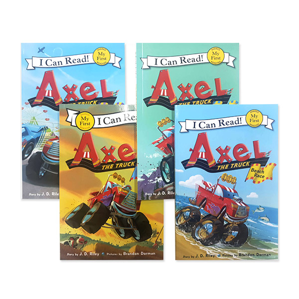 I Can Read My First단계 Axel the Truck 리더스북 4종 세트 (Paperback) (CD미포함)