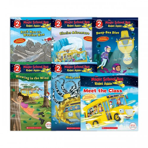 [Scholastic Reader Level 2] The Magic School Bus 리더스북 5종 세트 (Paperback) (CD미포함)