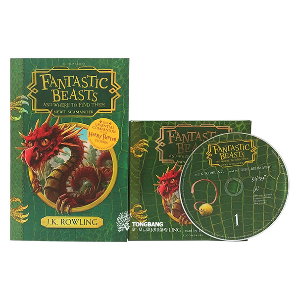 The Hogwarts Library : Fantastic Beasts and Where to Find Them Book & CD 세트 (Paperback+CD, 영국판)