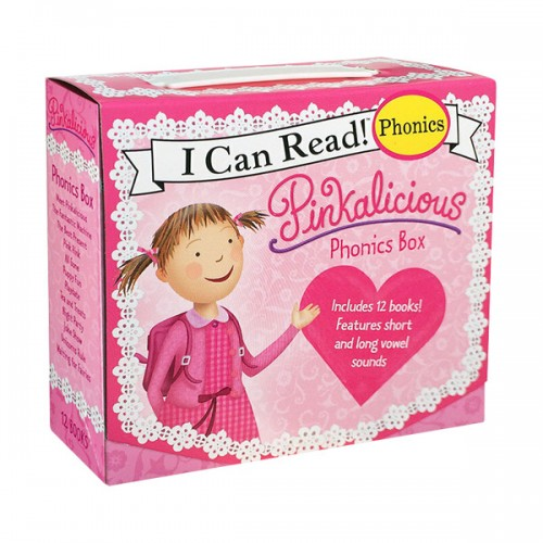 I Can Read Phonics : Pinkalicious Phonics Fun12 book Box Set (Paperback) (CD미포함)