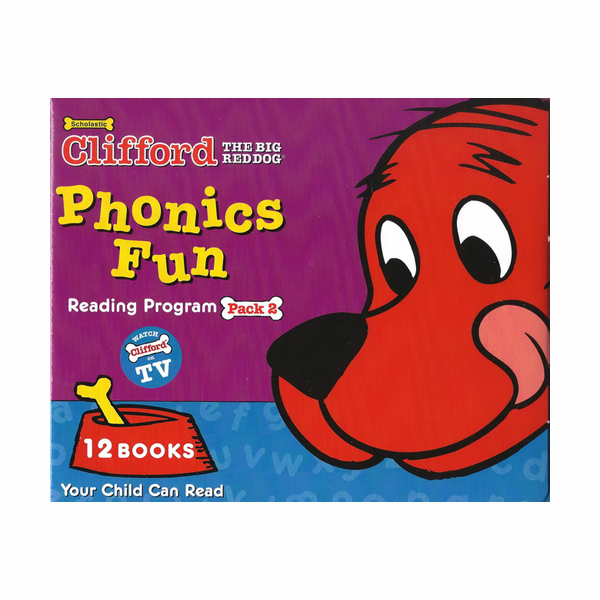 Clifford Phonics Box Set 2 (12 Books with CD)