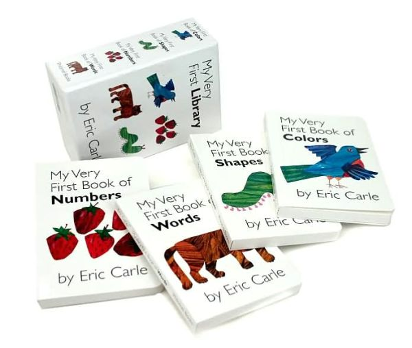 Eric Carle : My Very First Library 보드북 4종 Boxed Set (CD없음)