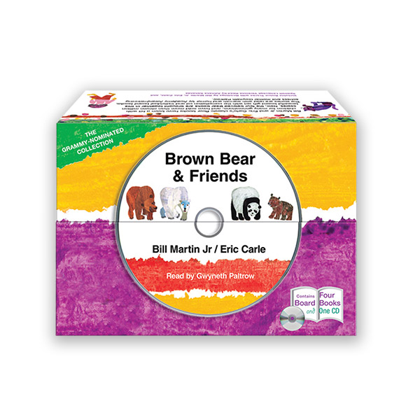 Eric Carle : Brown Bear & Friends 4종 보드북 & CD Box Set