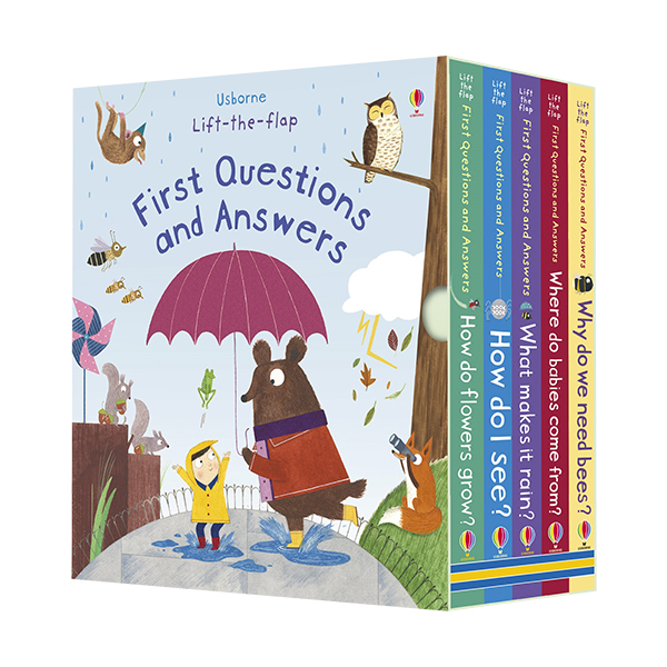 Usborne Lift-the-flap First Questions and Answers 5종 Box set (Board book, 영국판)