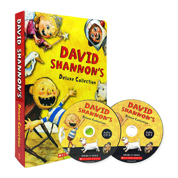 [스콜라스틱] David Shannon Deluxe Collection : 픽쳐북 & CD 10종 Box Set (Paperback+CD)