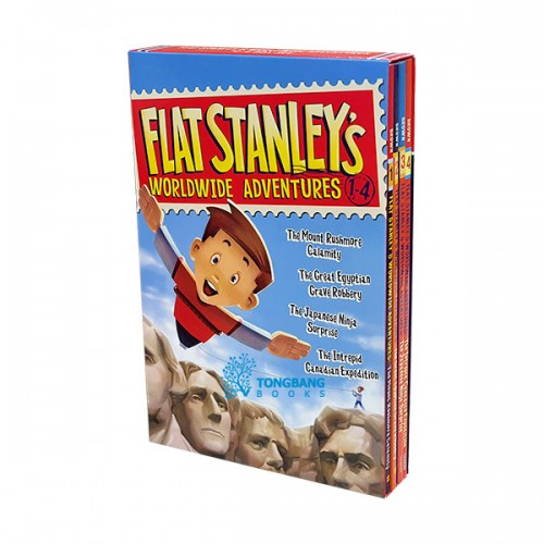 Flat Stanley's Worldwide Adventures #01-04 Books Boxed Set (Paperback, 4종) (CD미포함)