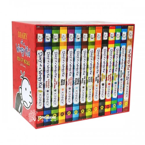RL 5.2-5.8 : Diary of a Wimpy Kid 14 Books boxed set (Paperback, 미국판) (CD미포함)