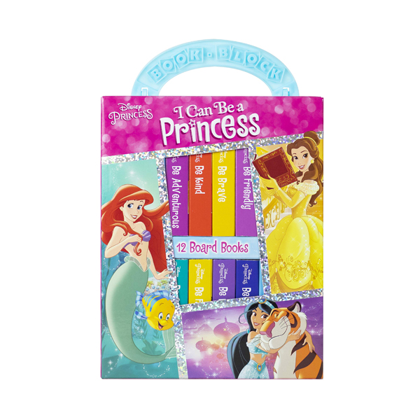 Disney Princess : I Can Be Princess My First Library Board Book Block 12 Book Set (Board book)