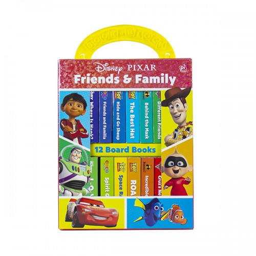 Disney Pixar : Friends and Family My First Library Board Book Block 12 Book Set (Board Book)