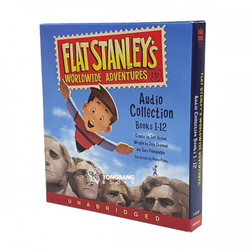Flat Stanley's Worldwide Adventures Audio Colletion : Books #01-12 (Audio CD, 8장)(도서미포함)