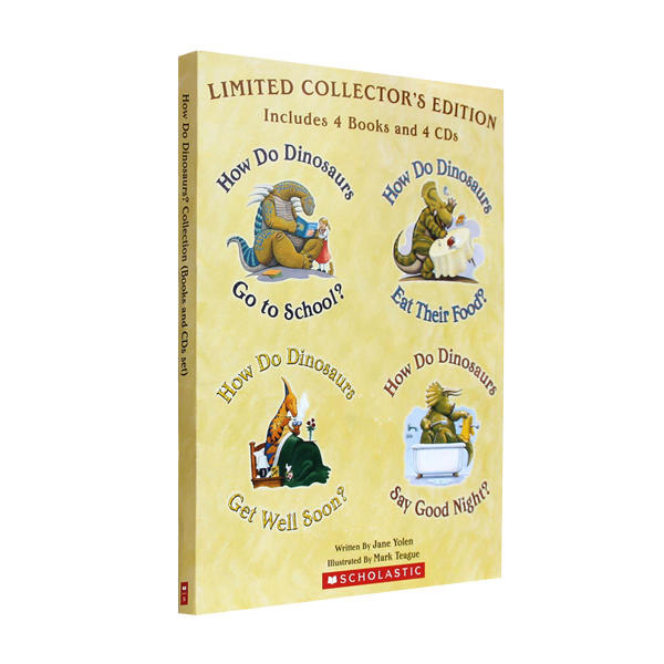 How Do Dinosaurs : Limited Collector's Edition 4 Books & 4 CDs (Paperback+CD)